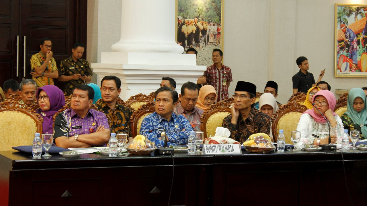 Wakil Walikota Serang Menghadiri Undangan Acara High Level Meeting HLM Tim Pengendalian Inflasi Daerah TPID