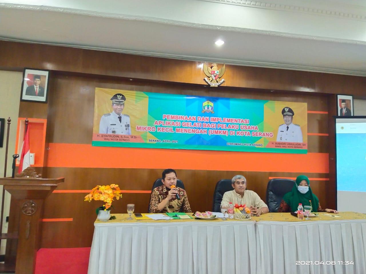 Pembinaan dan Implementasi Aplikasi Gelati Bagi UMKM di Kota Serang.