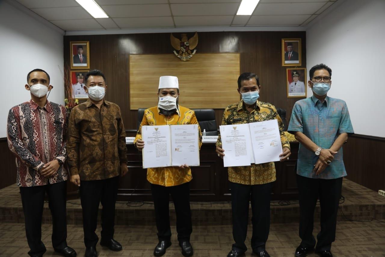 Kolaborasi Pemkot Bengkulu dengan Pemkot Serang.