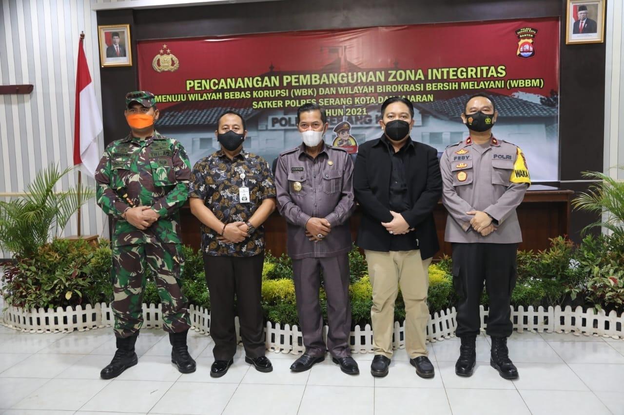 Dukungan Pemkot Serang kepada Polres Serang Kota menuju WBK dan WBBM.