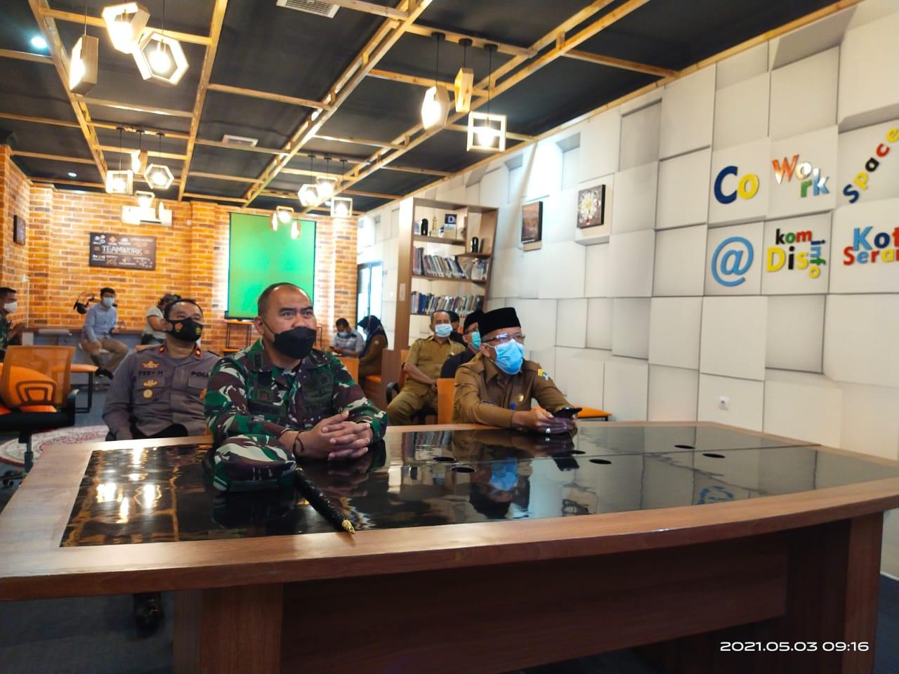 ASDA 1 Hadiri Rapat Koordinasi Kepala Daerah & Forkopimda Mengenai Penanganan Covid-19