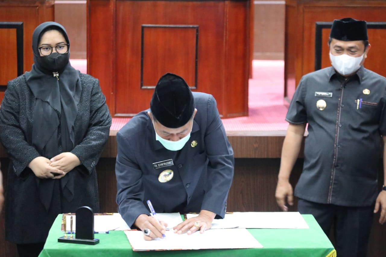Pemkot dan DPRD Kota Serang Setujui Raperda APBD Perubahan TA 2021