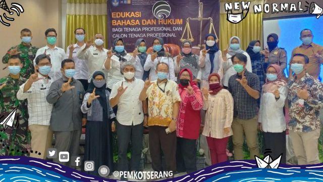 Halimi Berharap Dapat Bekerja Sama Dalam Urusan Bahasa Dan Hukum di Lingkungan Provinsi Banten.