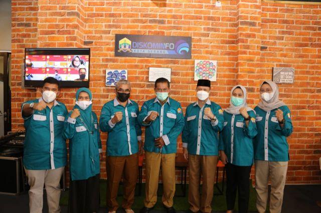 PPID Utama Kota Serang Mengikuti Presentasi Monev Keterbukaan Informasi Publik
