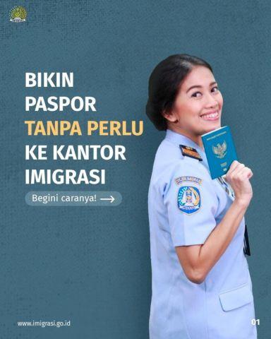Bikin Paspor Tanpa Perlu ke Kantor Imigrasi