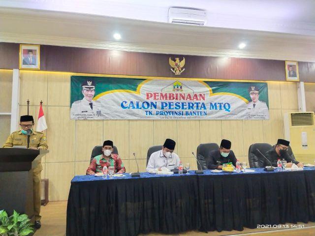 Sambutan: Ketua Panitia Pembinaan MTQ Kota Serang Ke XVIII tingkat Provinsi Banten