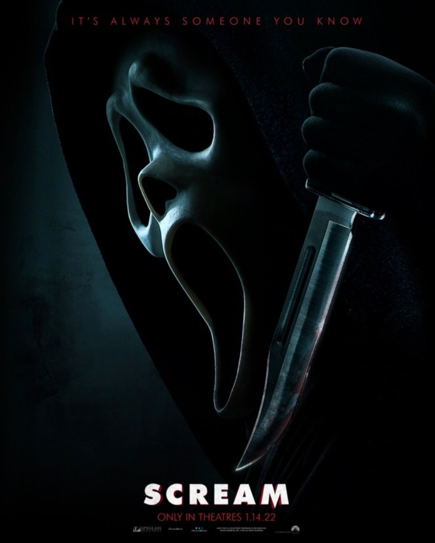 Poster Film SCREAM Rilis Mengungkap Wajah Hantu Baru dalam Mode Menyeramkan