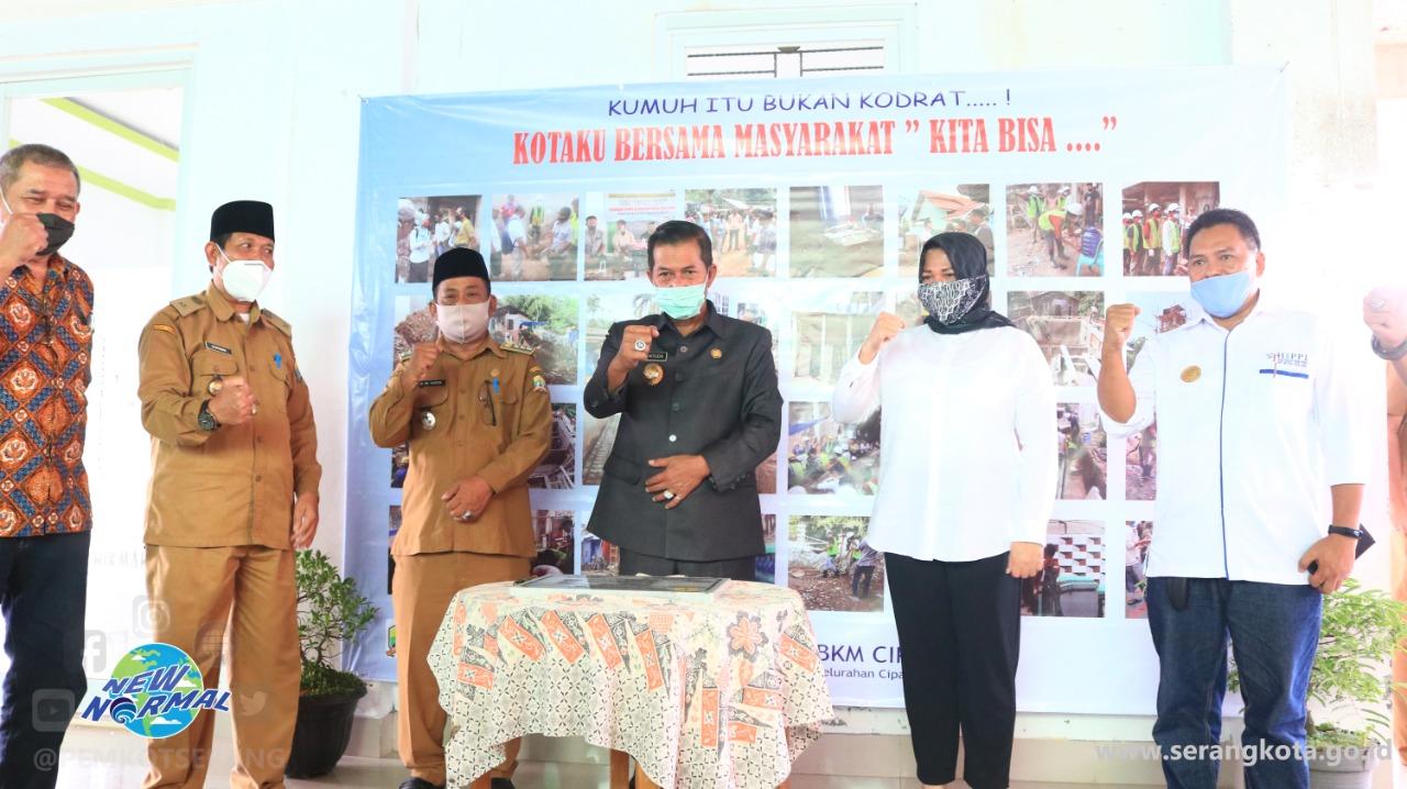 Wali Kota Serang Meninjau Lokasi Kegiatan Penataan Lingkungan Kumuh, Sanitasi Warga MCK dan SAB di Kota Serang