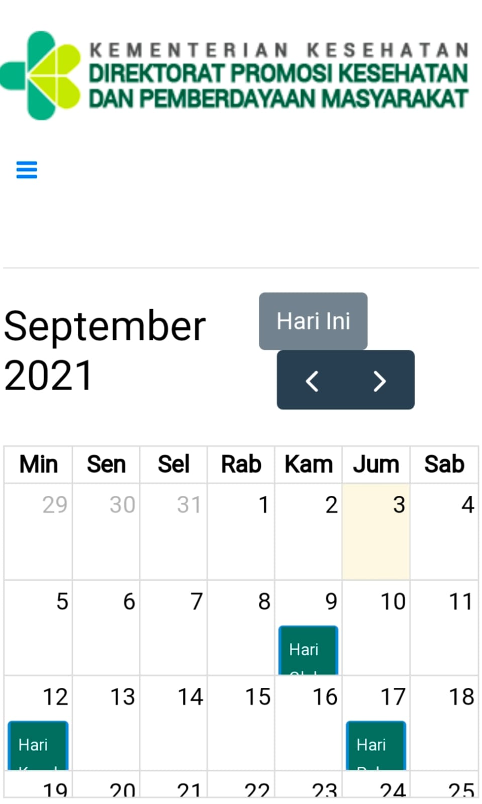 Benar atau tidak Hari Ulang Tahun HUT Palang Merah Indonesia PMI Tanggal 03 September